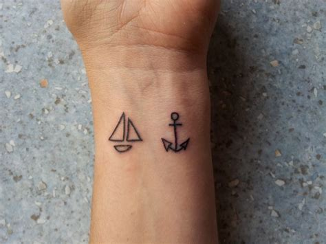 ship and anchor tattoo one on each wrist tattoos