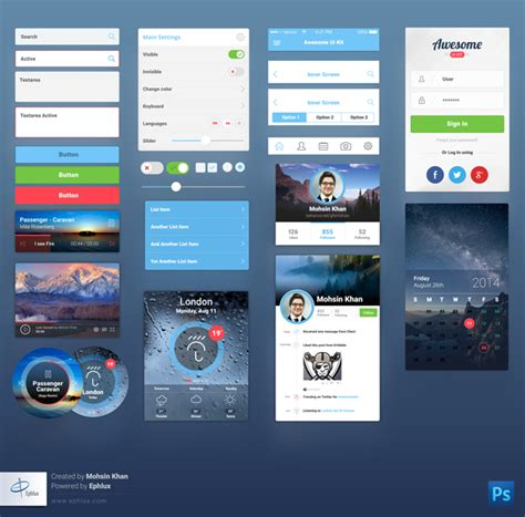 pattern ui mobile free download awesome ui kit for mobile designbeep