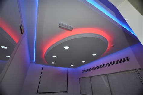 Bathroom Setup Ideas by Cool Lighting Combination In Pop Ceiling Design Gharexpert
