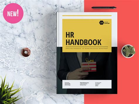 employee handbook cover design template employee handbook template stockindesign