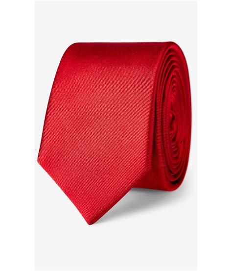 express solid silk tie in for lyst