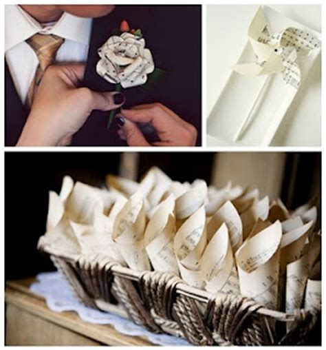 Wedding Craft Paper - diy vintage paper wedding projects afloral wedding