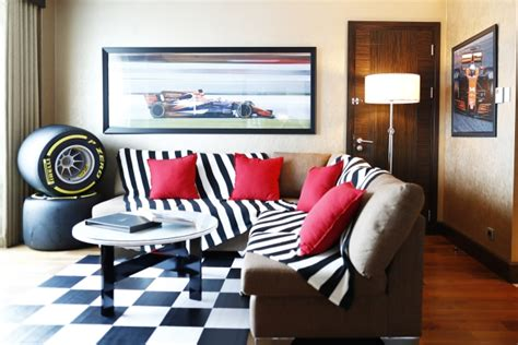 theme hotel crazy games formula 1 fans can stay in a racing themed hotel room