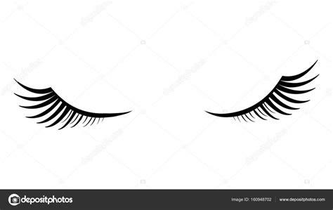 imagenes de ojos sin fondo ojos cerrados con las pesta 241 as suaves negro sobre un fondo
