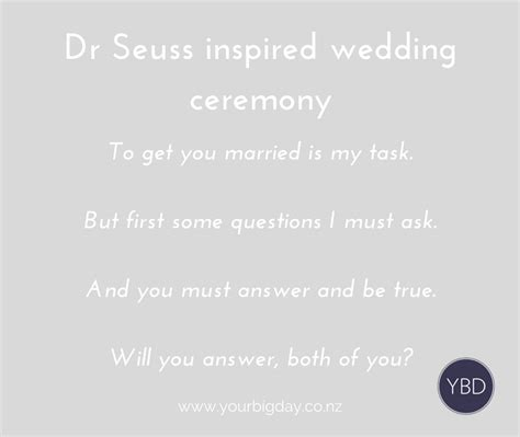 Wedding Vows By Dr Seuss by Dr Seuss Inspired Wedding Ceremony And Vows