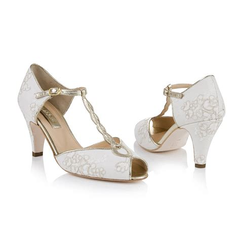 Offene Hochzeitsschuhe by Antique Lace Peep Toe Wedding Shoes By