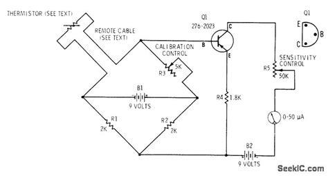 wheatstone bridge ntc thermistor thermistor thermometer basic circuit circuit diagram seekic