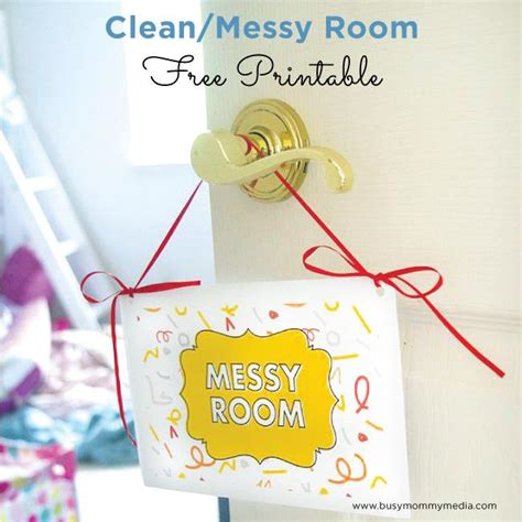 tips for helping your kids keep their rooms organized free printable clean messy room sign