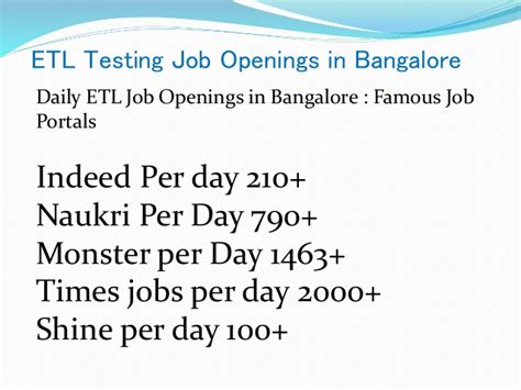 indeed jobs bangalore etl testing training