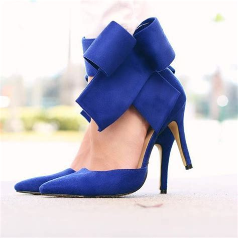 Royal Blue High Heels   Fs Heel