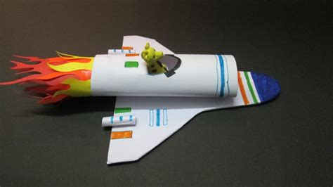 How To Make A Spaceship With Paper - crafts how to make a paper rocket at home how to