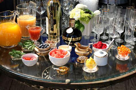 brunch setup diy chagne bar wedding brunch ideas the king and