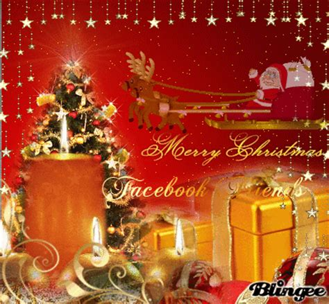 merry christmas facebook friends picture  blingeecom