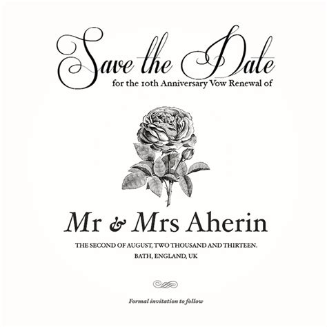 My Save The Date For Anniversary Vow Renewal Wedding Anniversary Pinterest Invitations Save The Date Anniversary Templates