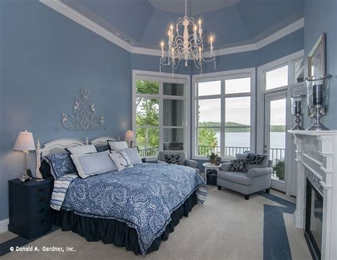 spacious master bedroom  decorated  shades