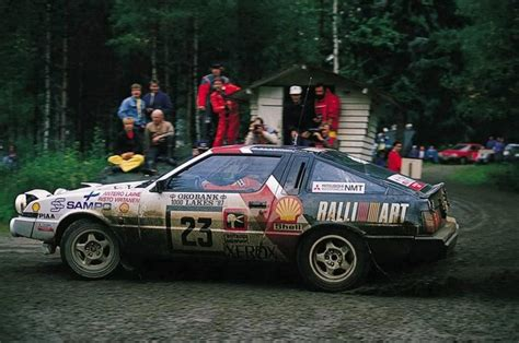 mitsubishi starion rally car mitsubishi starion gr a rally cars pinterest