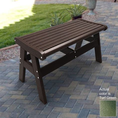 outdoor bench lowes shop malibu outdoor living 47 in l patio bench at lowes com
