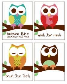 owl bathroom decor owl bathroom decor set of 4 8x10 prints owl bathroom prints