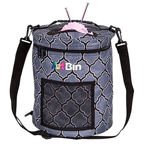pattern drum in knitting artbin 6804sa yarn drum knitting crochet tote bag gray