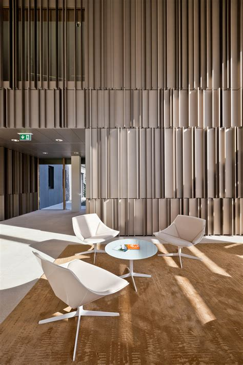 Stephen Wall Design Architecture by Gallery Of Enovos Luxembourg Headquarter Jim Clemes