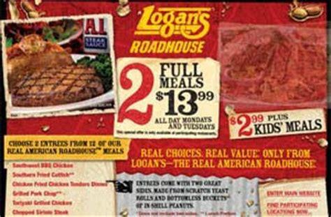 logans steak house logans roadhouse menu