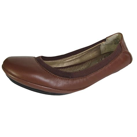what shoes are for flat me womens flynn leather ballet flat shoe ebay