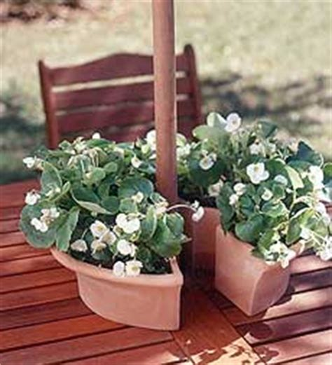 Patio Table Flower Planters by Patio Umbrella Lights