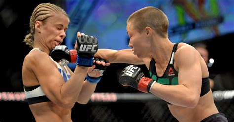 rose namajunas schools paige vanzant  finishing  rear naked choke fox sports
