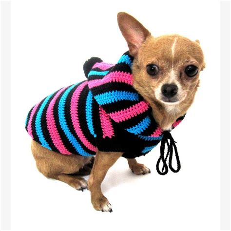 Free Pattern Chihuahua Clothes | free xxs crochet dog sweater pattern dancox for