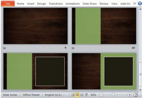 Woodgrain Design Template For Powerpoint Slides Photo Album Template
