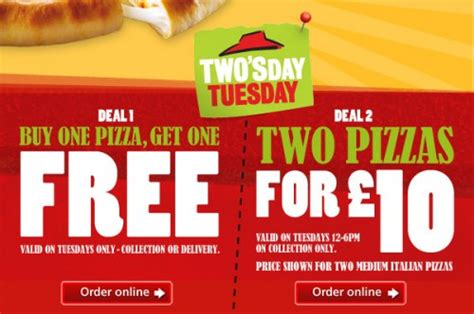 discount vouchers pizza hut two pizzas for only ј10 at pizza hut using this voucher code