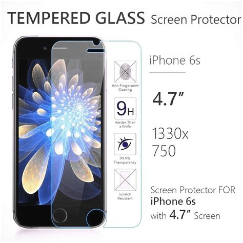 apple iphone    premium real tempered glass film screen protector lot ebay