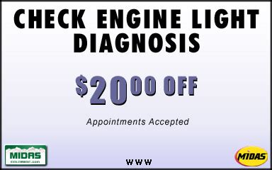 Check Engine Light Diagnosis by Auto Repair Coupons