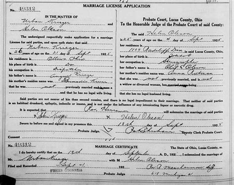 Ohio State Marriage Records Genealogy Data Page 39 Notes Pages