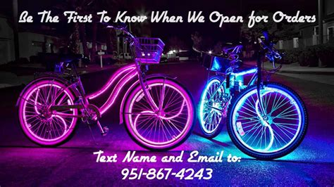 Modified Bikes With Lights by Coolest Glowing Cruisers Glow Bike Lights