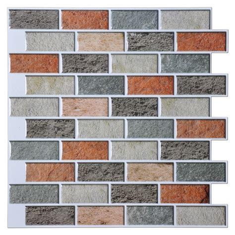 peal and stick backsplash peal and stick kitchen backsplash adhesive wall tile 10
