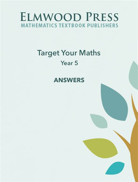 year 5 maths targeted 0008201714 target your maths year 5 answer book elmwood education