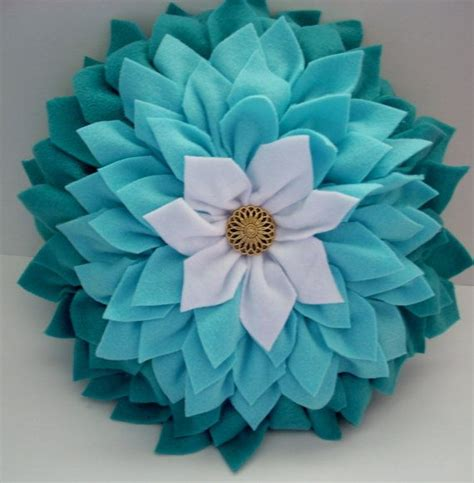 white jeep with teal accents teal and white dahlia flower pillow 3d flower pillow home