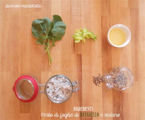 foglie sedano ricette pesto di foglie di ravanello e sedano