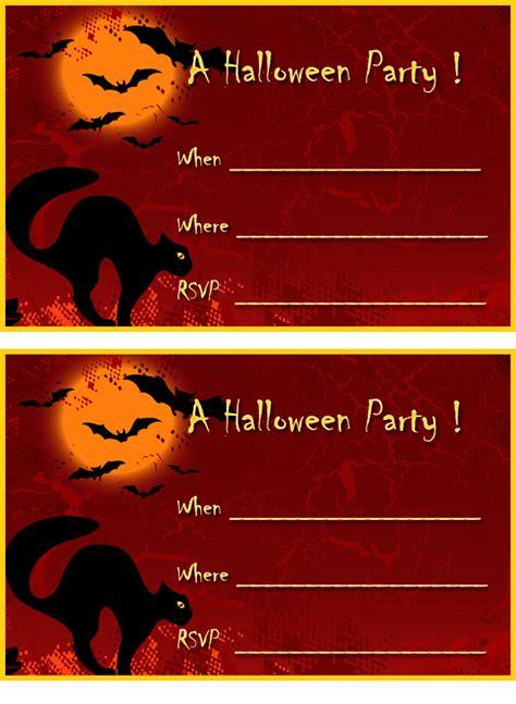 printable halloween invitation cards free printable halloween invitations free halloween party
