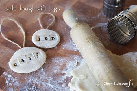 diy salt dough gift tags