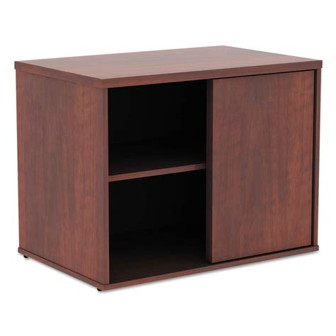 Low Storage Cabinet Alera 174 Open Office Low Storage Cabinet Credenza 29 1 2 X 19 1 8x 22 7 8 Medium Cherry Alera