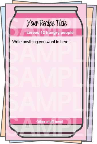 printable jotter labels 79 best recipe cards pages images on pinterest
