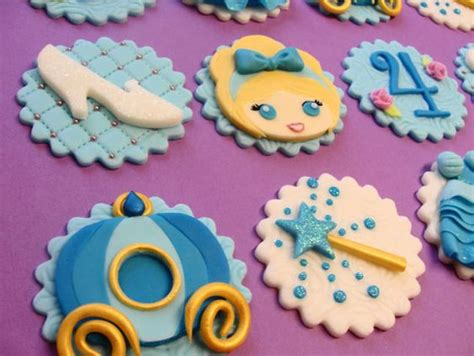 cinderella princess fondant cupcake toppers on etsy 45 00 ideas i
