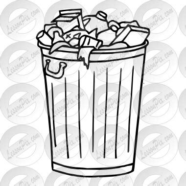 garbage clipart outline clipground