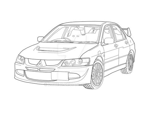 mitsubishi evo drawing image gallery evo 8 drawings