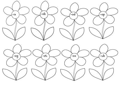 flower pattern worksheet word family flowers worksheets teacha
