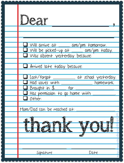 note home to parents template 7 best images of printable notes to parents free