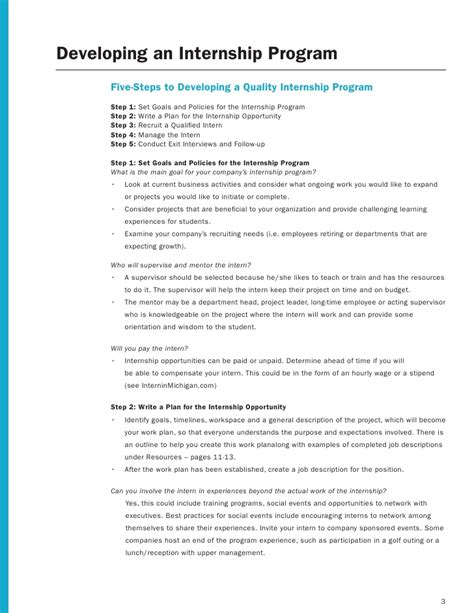 Employer Internship Toolkit Internship Project Plan Template