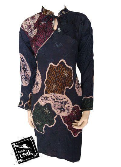 Blus Batik Cap Pola Bahu Tunik 2 baju batik blus eksklusif motif pola sekar jagad atasan